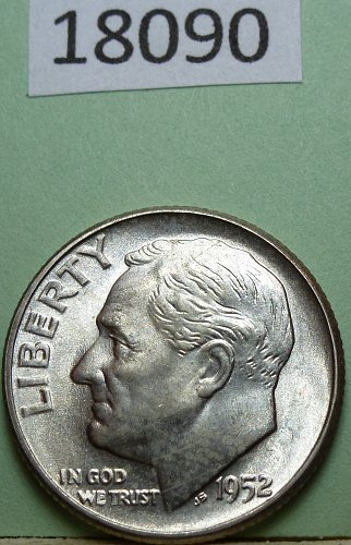 1952 P  BU Roosevelt Dime
