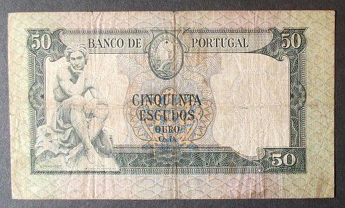 Portugal P164 50 Escudos VG