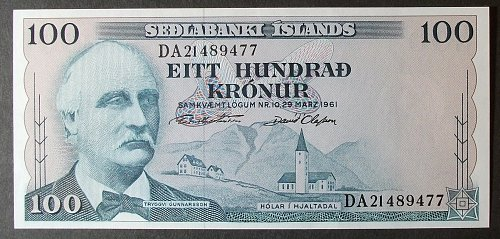 Iceland P44 100 Kronor UNC64