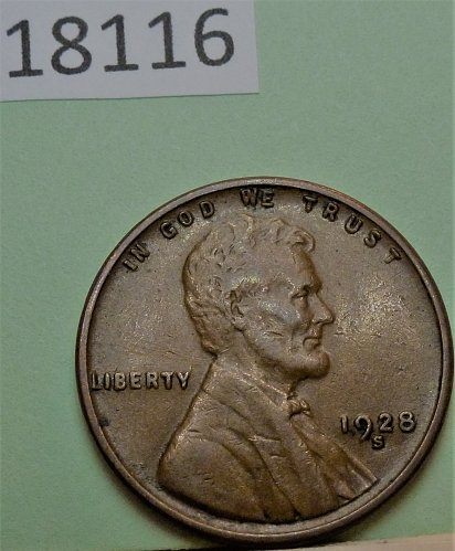 1928 S AU Lincoln Wheat Cent About Uncirculated