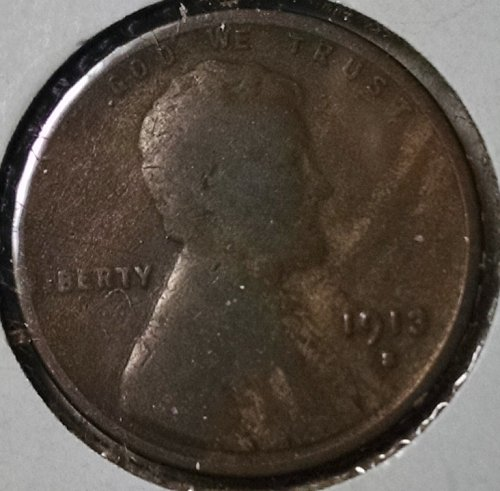 1913 S Lincoln Wheat Cent