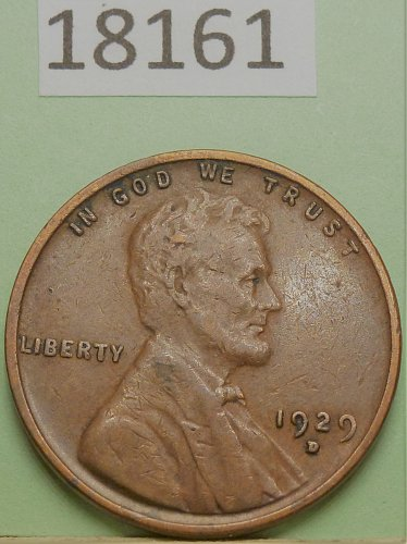 1929 D XF Lincoln Wheat Cent in Extra Fine