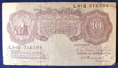 Great Britain P368a 10 Shillings VG #2