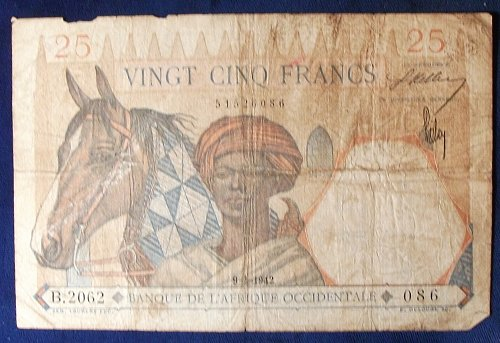 French West Africa P27 Good