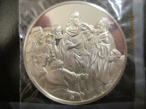 Minted 1976 Franklin Mint Canada Sterling Silver Rembrandt Lim Ed Coin Super Gif