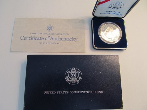 1987 United States Constitution Bicentennial Silver Dollar