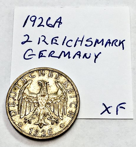1926a 2 Reichsmark Germany