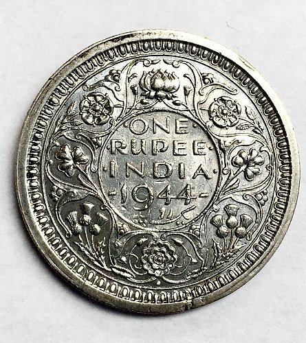 1944 India 1 Rupee