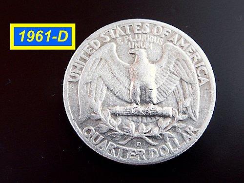 1961-D Washington Quarter  ☆  ☆  (#2050)a