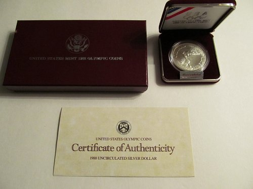 1988 US Olympic Coin Silver Dollar
