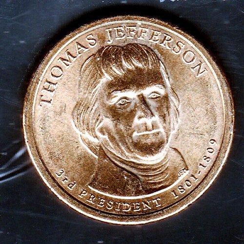 2007 P Presidential Dollars: Thomas Jefferson -6