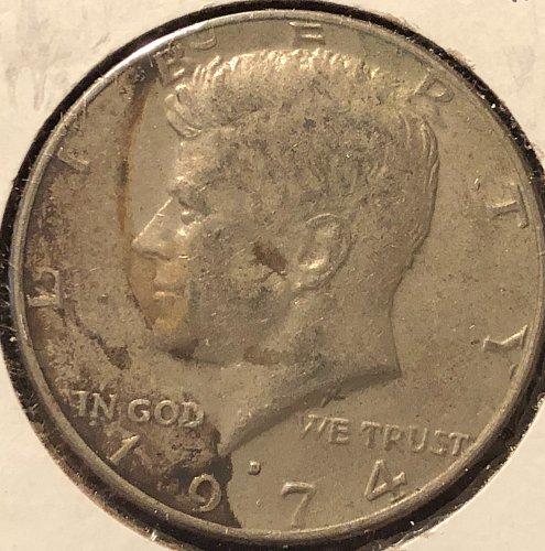 1974 D Kennedy Half Dollars