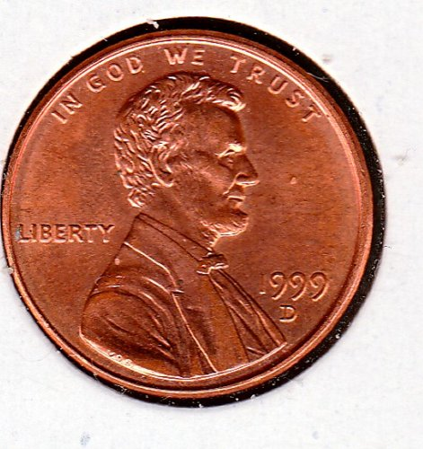 1999 D Lincoln Memorial Cent Small Cents -5