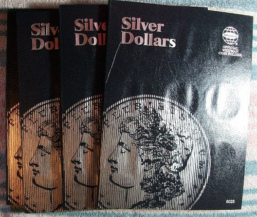 4 Whitman Silver Dollar Folders, Brand New