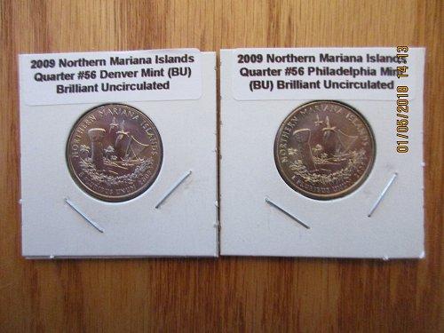 Washington State Quarters Volume II 2004 to 2008 + 2009 Territories & DC ALL 56