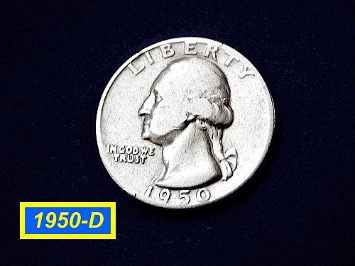 "1950-D Quarter ☆  ""Circulated"" ☆ (#2905)b"