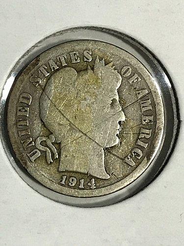 1914 D Barber Dime