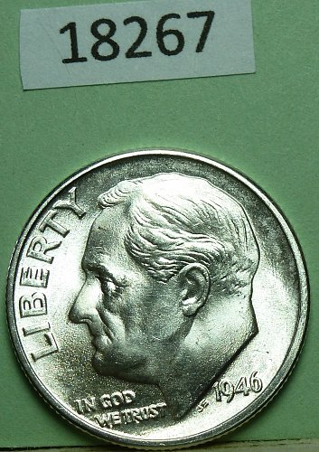 GEM BU MS Quality 1946-D Roosevelt Dime. High Quality