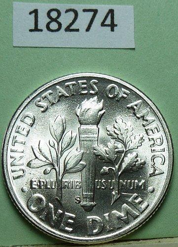 GEM BU MS Quality 1948-S Roosevelt Silver Dime. High Quality