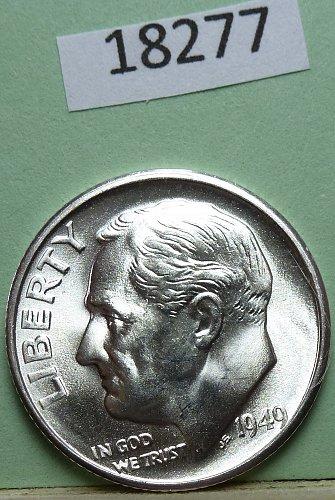 GEM BU MS Quality 1949-S Roosevelt Silver Dime. High Quality