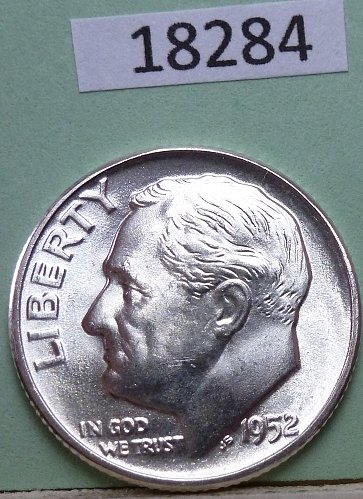 GEM BU MS Quality 1952-P Roosevelt Silver Dime. High Quality