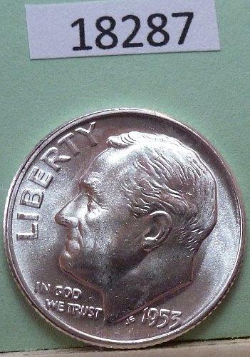 GEM BU MS Quality 1953-P Roosevelt Silver Dime. High Quality