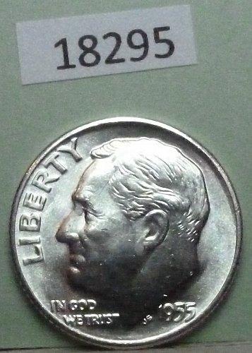 GEM BU MS Quality 1955-D Roosevelt Silver Dime. High Quality