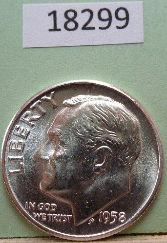 GEM BU MS Quality 1958-P Roosevelt Silver Dime. High Quality