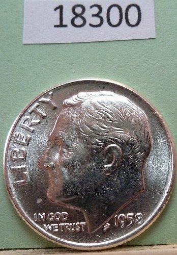 GEM BU MS Quality 1958-D Roosevelt Silver Dime. High Quality