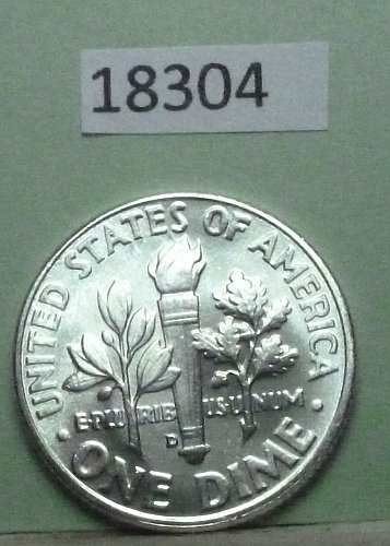 GEM BU MS Quality 1961-D Roosevelt Silver Dime. High Quality