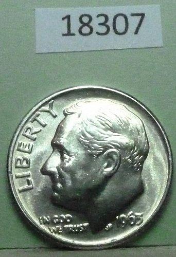 GEM BU MS Quality 1963-P Roosevelt Silver Dime. High Quality