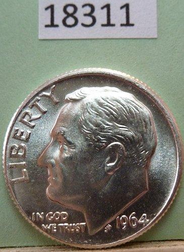 GEM BU MS Quality 1964-D Roosevelt Silver Dime. High Quality