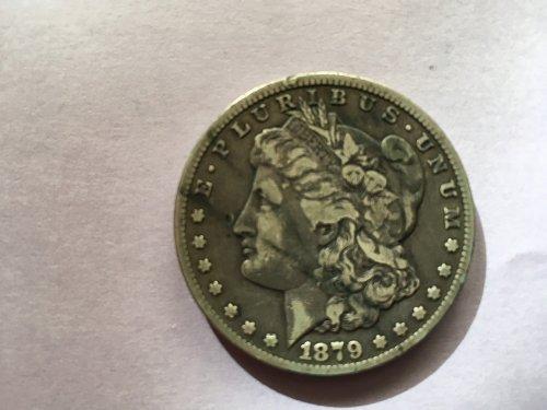 Rare 1879 CC Morgan Silver Dollar: Clear CC