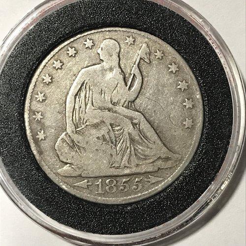 1855 O Seated Liberty Half Dollar