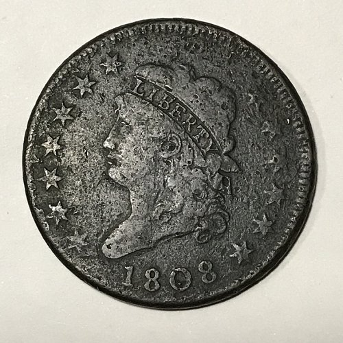 1808 Classic Head Large Cent Fine 15