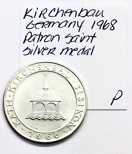 Kirchenbau Germany 1968 Patron Saint Silver Medal