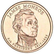 2008 P   JAMES MONROE  GOLDEN DOLLAR