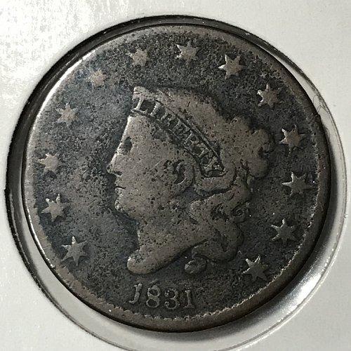 1831 Coronet Liberty Large Cent