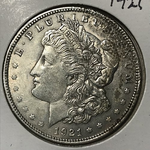 1921 P Morgan Dollar