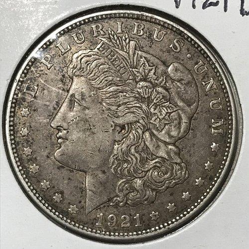 1921 D Morgan Dollar