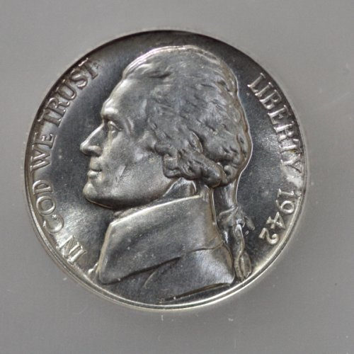 1942-P Jefferson Proof Nickel, ICG - PR64