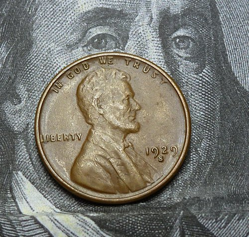 Here is a AU 1929 S Lincoln Wheat Cent. About UNCIRCULATED