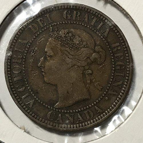 1888  Canada One Cent Queen Victoria