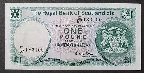 Scotland P341b Pound VF