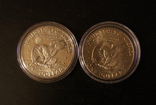 1977 Eisenhower, Proof and Philadelphia mint