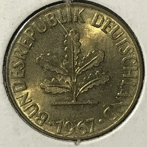 1967 D Germany 5 Pfennig
