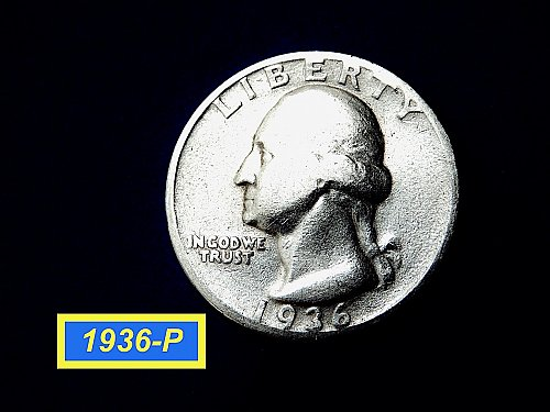 1936-P ☆ Circulated (F-12) Silver Quarter  ☆  (#2890)a