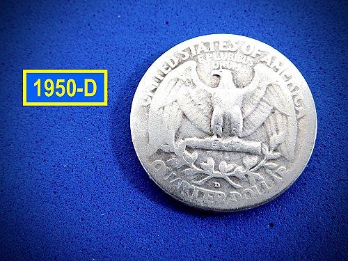 "1950-D Quarter ☆  ""Circulated"" ☆ (#2973.1)a"
