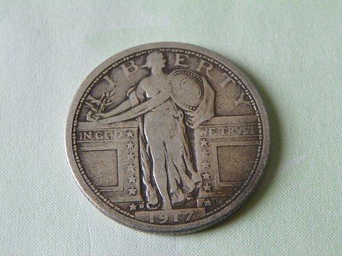 1917-D Variety 1 Standing Liberty Quarter