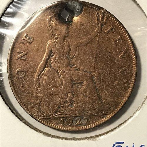 1927 England 1 Penny